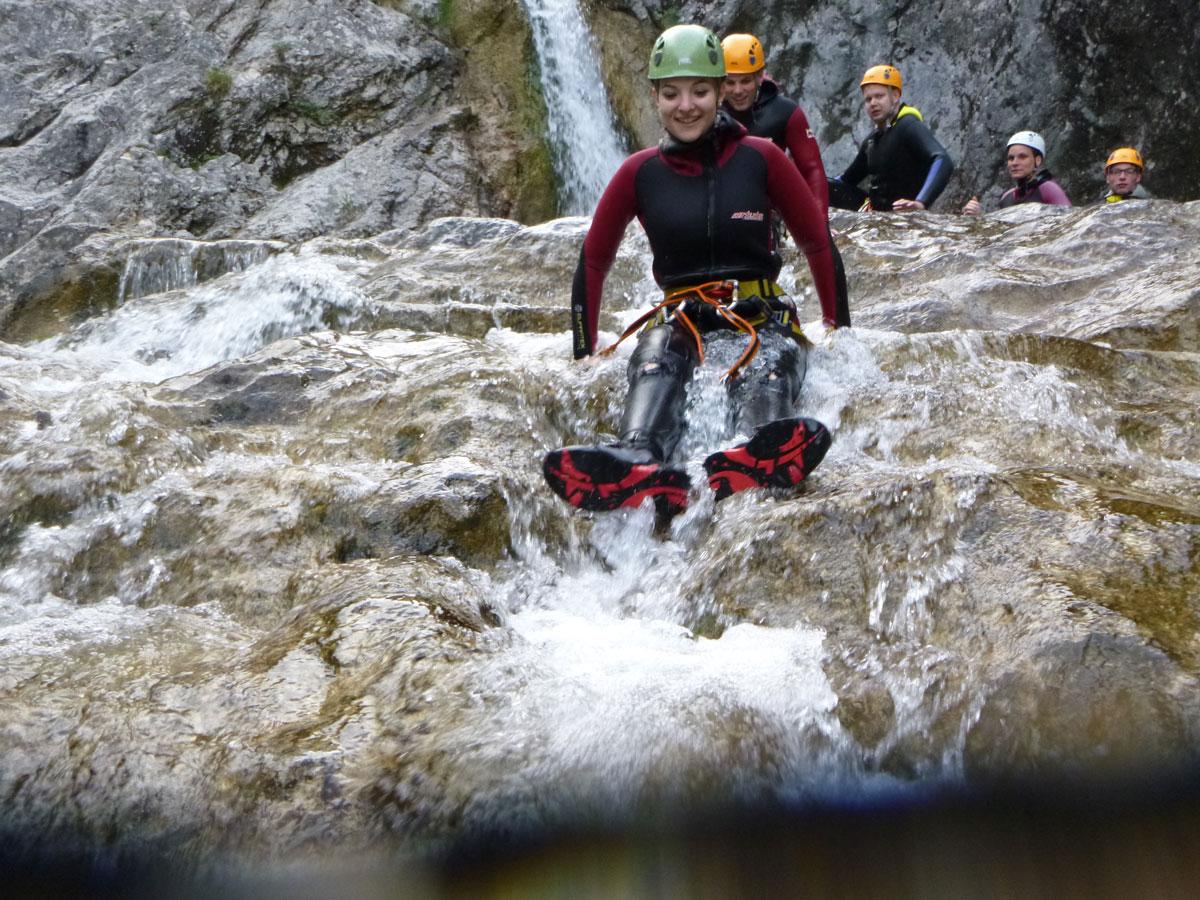 Canyoning Rutschen