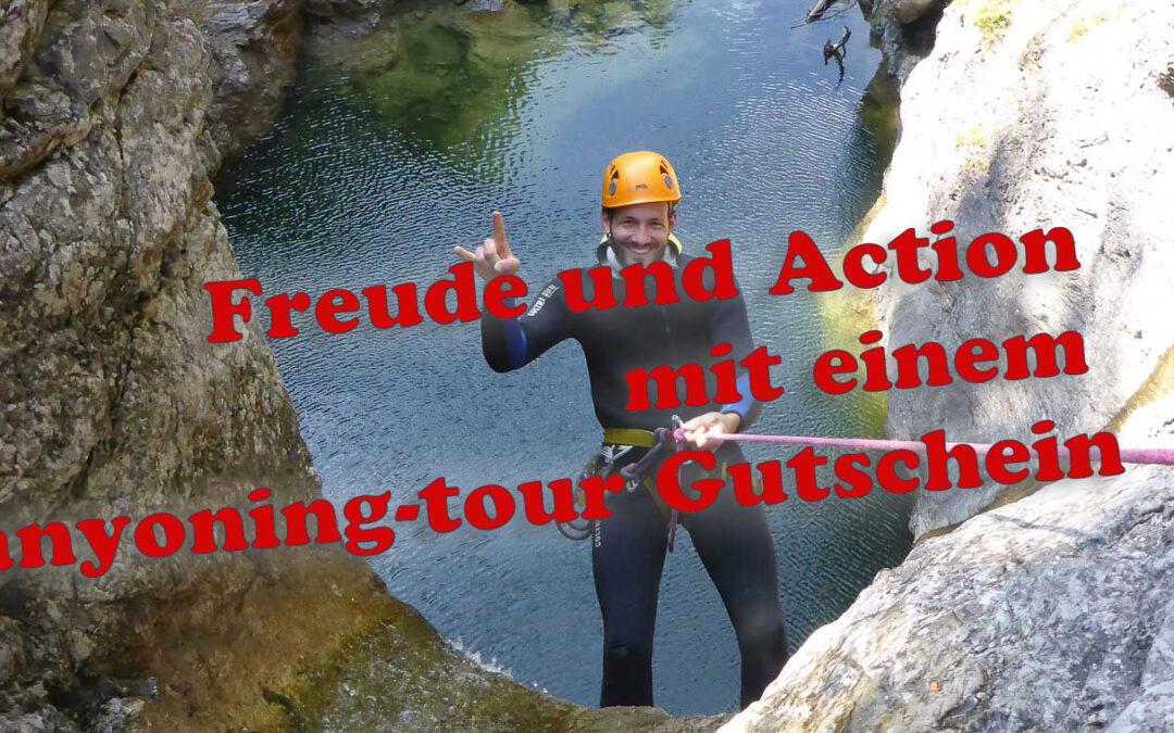 Gutschein Canyoing Tour
